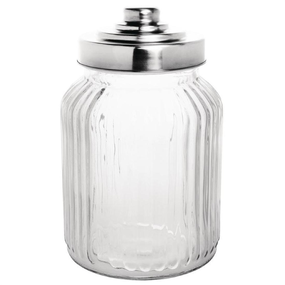 Ml Ribbed Glass Jar