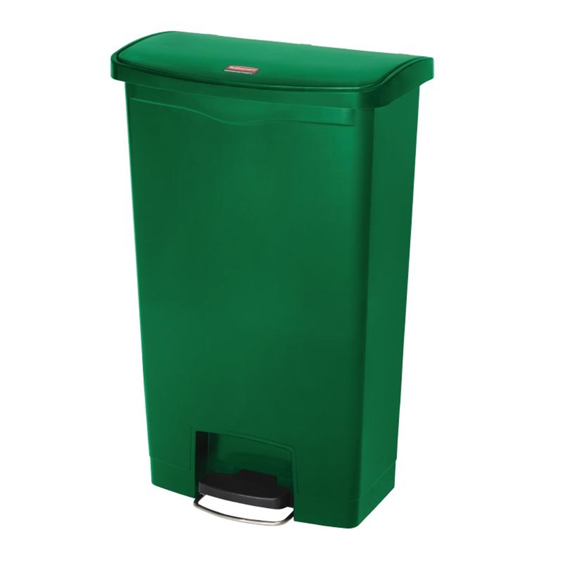 Rubbermaid Slim Jim Step On Bin Front Pedal 68ltr Green