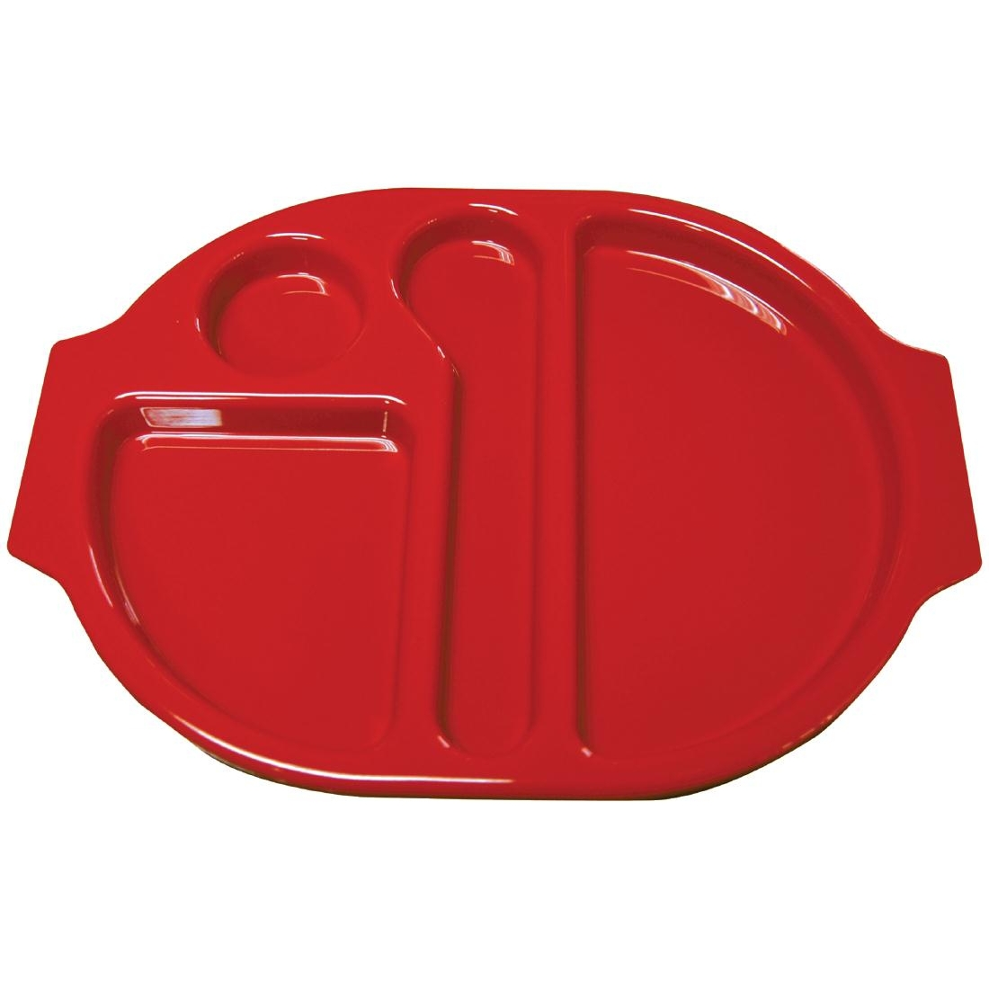 Kristallon Small Polycarbonate Compartment Food Trays Red