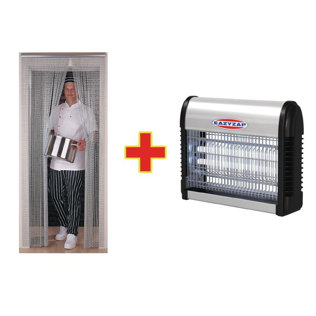 Special Offer Chain Door Fly Screen And Fly Killer Combo Andy